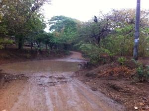 Muddy road to the beach
